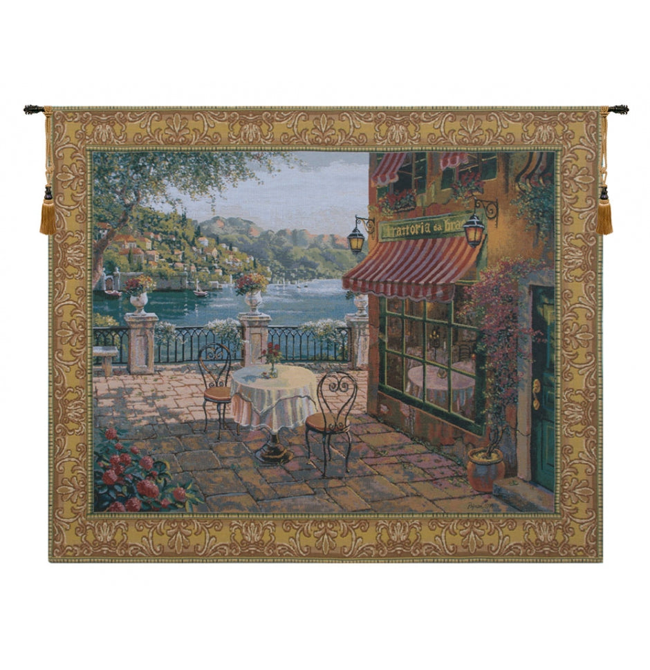 Blue Terrasse European Wall Hanging Tapestry