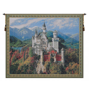 Neuschwanstein Castle Bright European Wall Hanging Tapestry