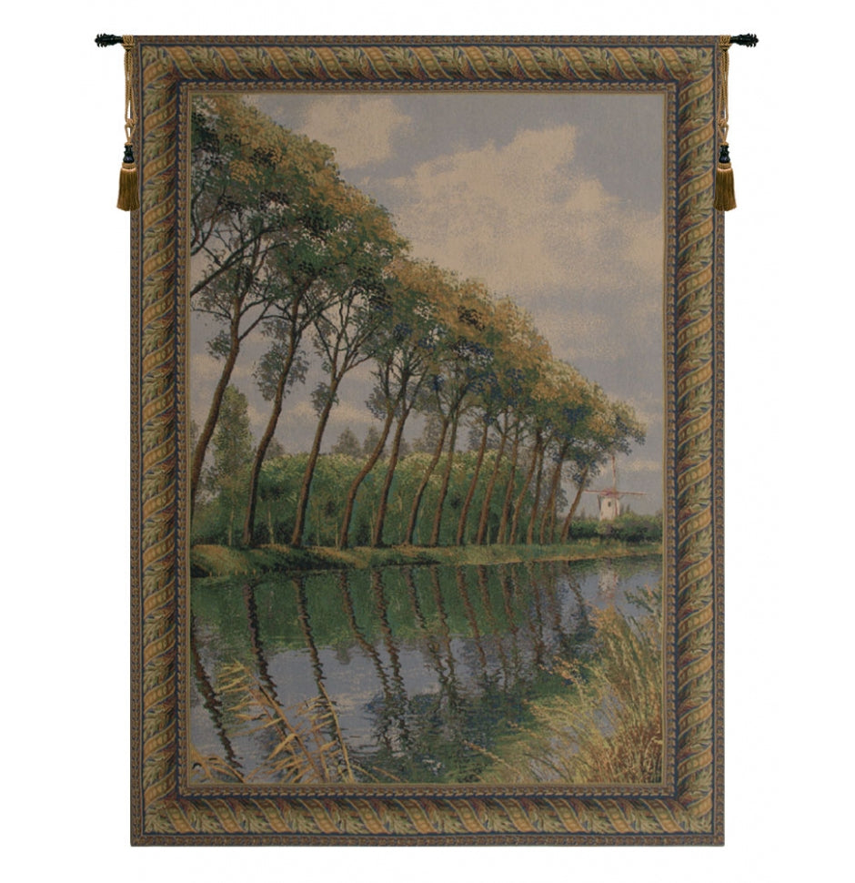 Green Canal in Flanders Mill European Wall Hanging Tapestry