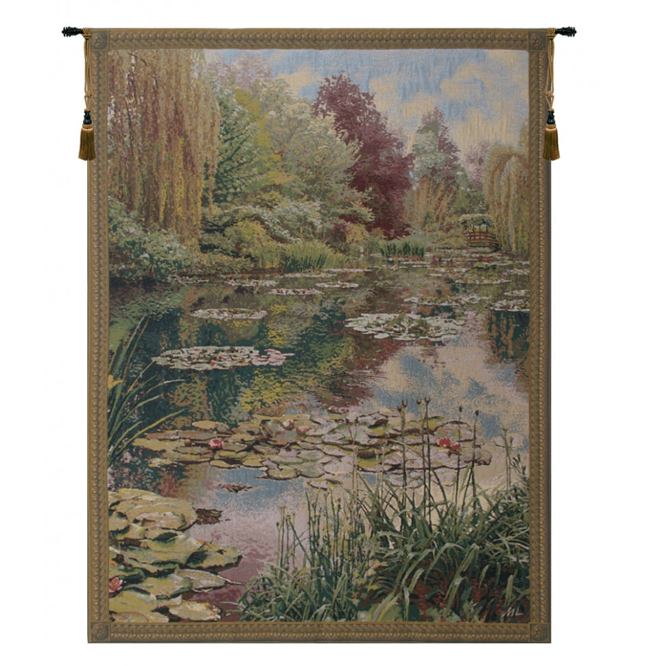 Green Monet Vertical European Wall Hanging Tapestry