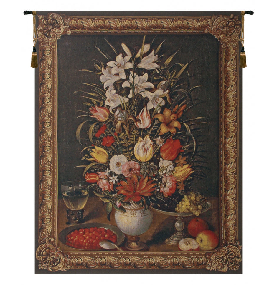 Antique Breughel Large European Wall Hanging Tapestry