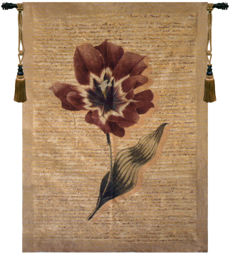 Flanders Poppies I Belgian Wall Hanging Tapestry