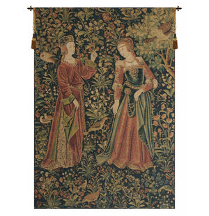 Promenade Left Panel European Hanging Wall Tapestry