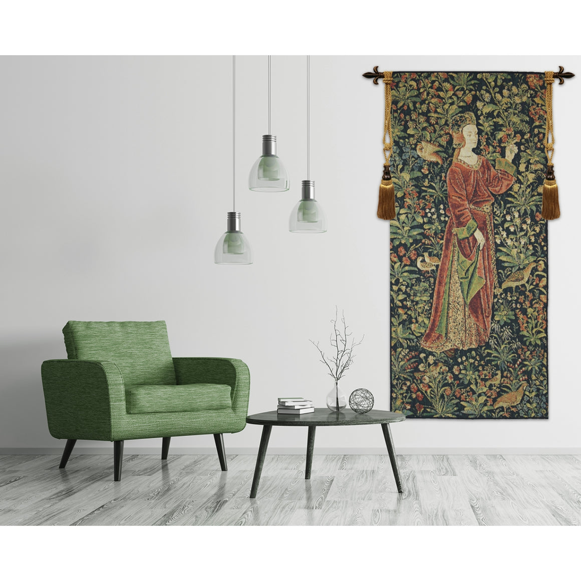 Promenade I Left Panel European Hanging Wall Tapestry