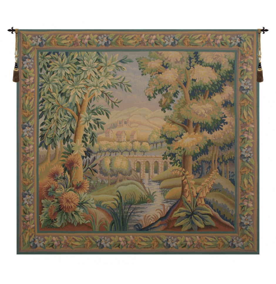 Bridge Without Bird I European Hanging Wall Tapestry