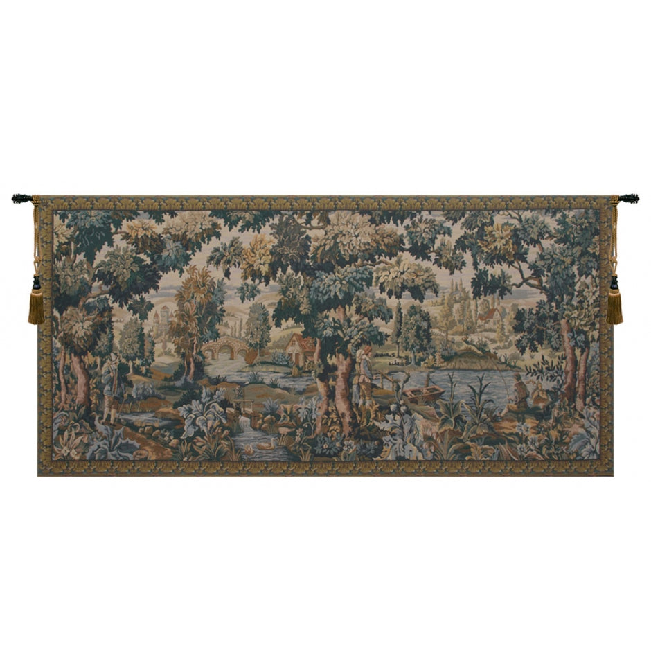 Paysage Flamand European Hanging Wall Tapestry