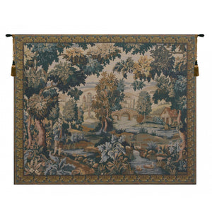Paysage Flamand Moulin European Hanging Wall Tapestry