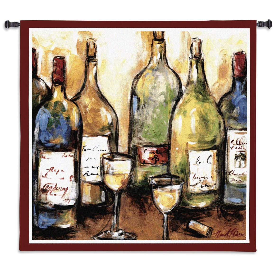 Abstract Wine tapestries wall hangings
