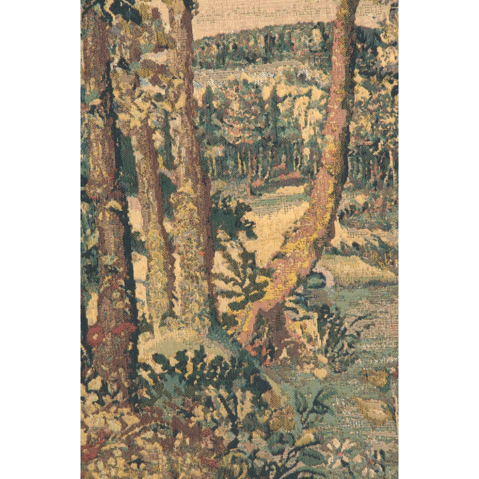 Wide Green Forest Woven Textile