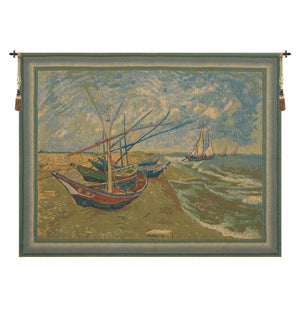 Van Gogh Bateaux Woven Wall Hanging