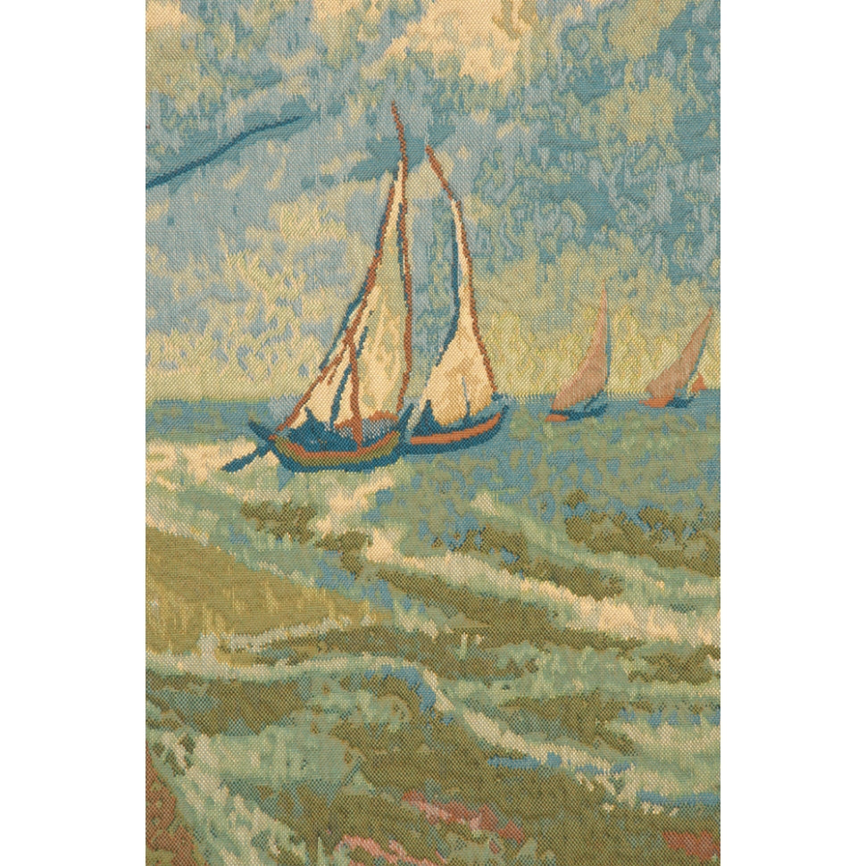 Large Green Famous Van Gogh Ship Artwork Decor