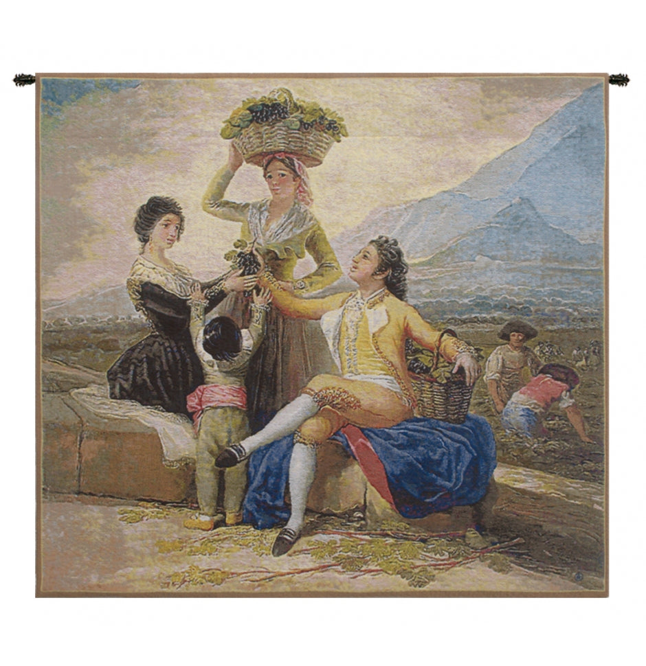 Vendimia Small European Hanging Wall Tapestry