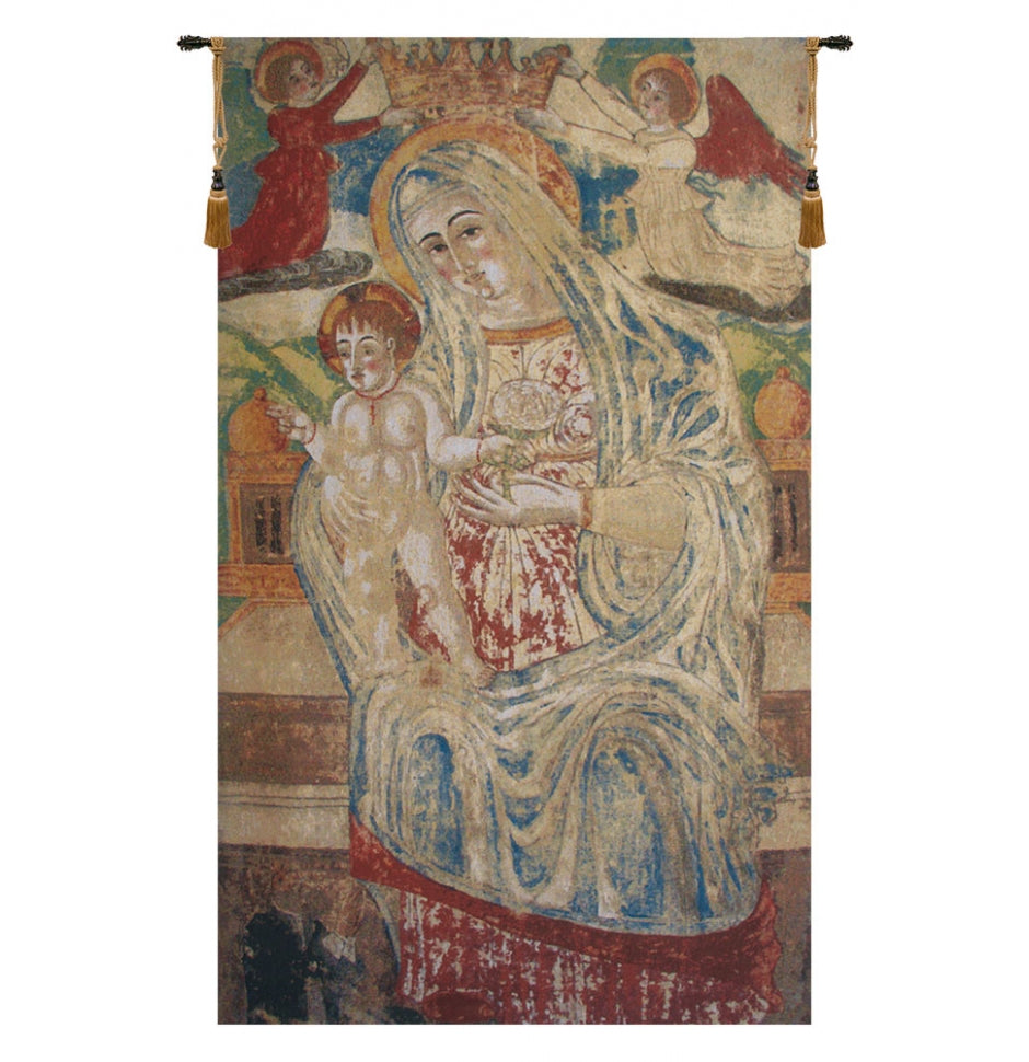 Madonna with Child Flanders European Hanging Wall Tapestry