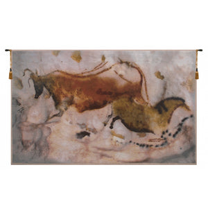 Vache et Cheval European Hanging Wall Tapestry
