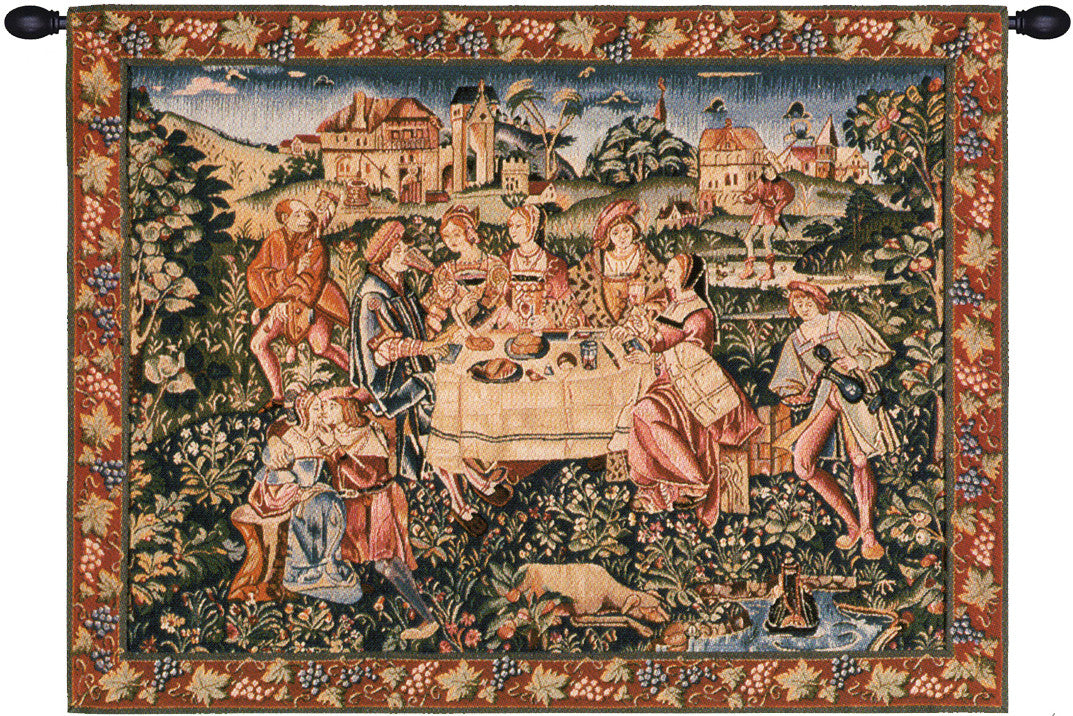 Green The Feast French Decor Wall Tapestry
