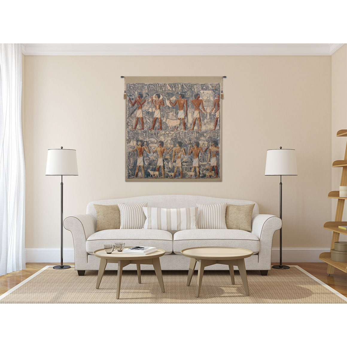 Saqqarah Blue European Hanging Wall Tapestry