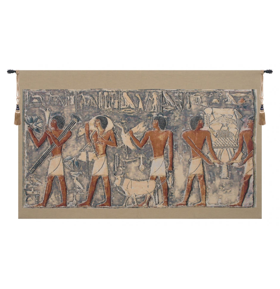 Saqqarah Blue Part I European Hanging Wall Tapestry