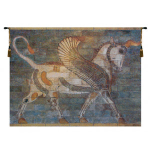 Winged Bull European Hanging Wall Tapestry