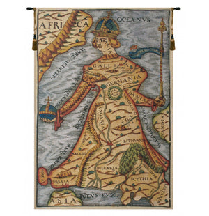 Ptolemaeus Map European Hanging Wall Tapestry