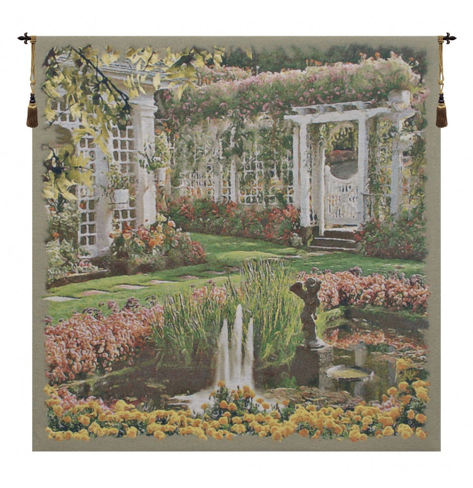 Jardin Medium I European Hanging Wall Tapestry