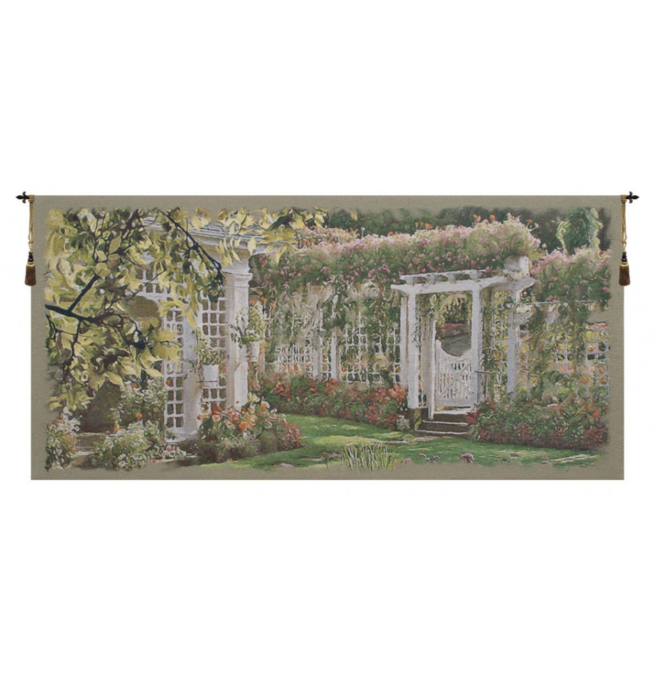 Jardin Horizontal I European Hanging Wall Tapestry