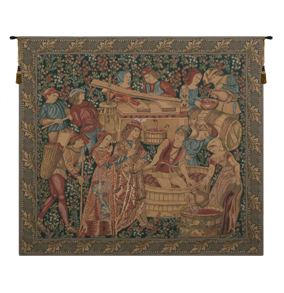 Vendange Left Panel Wall Hanging Tapestry