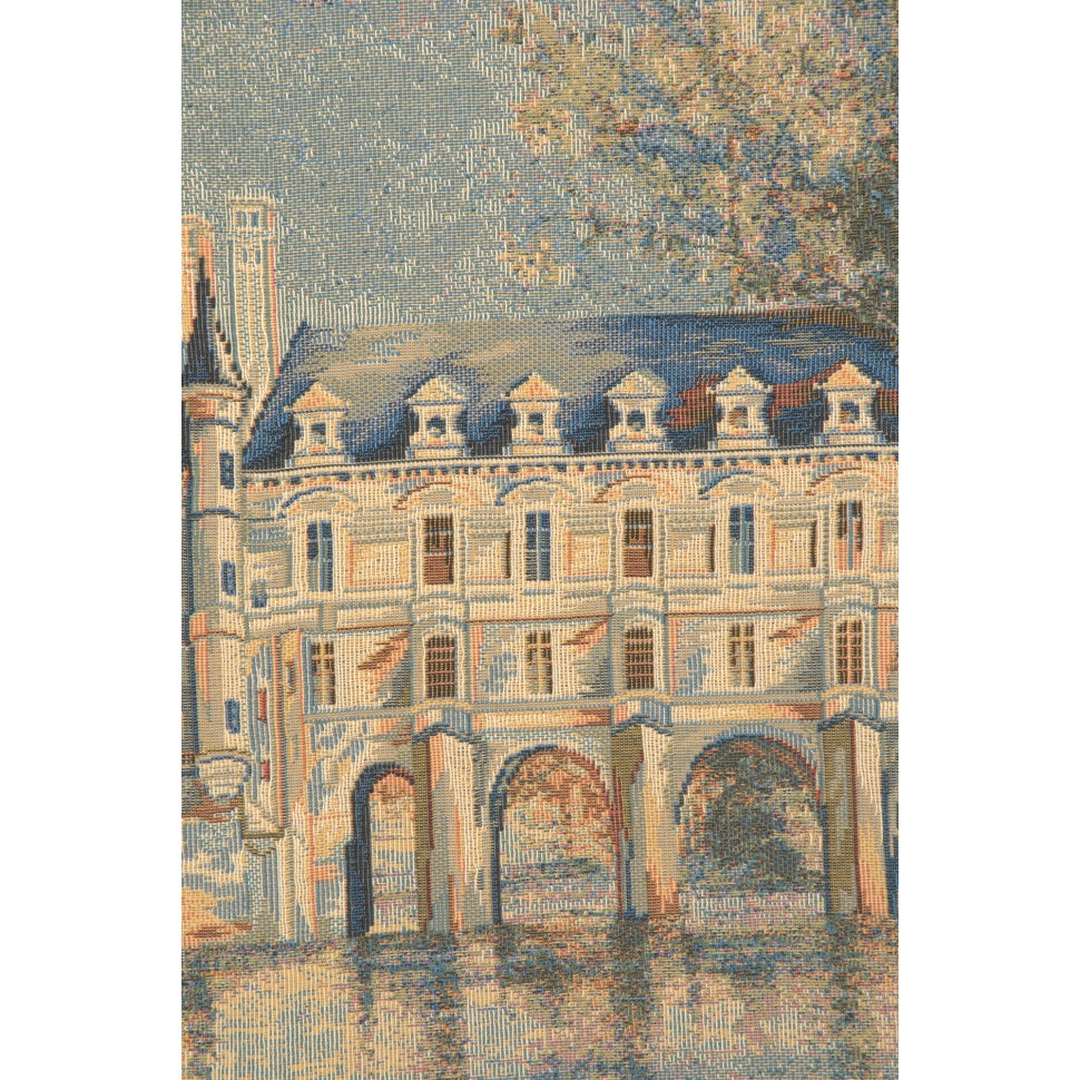 Blue French Castle Woven Cotton Art