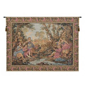 Gallanteries Belgian Tapestry Wall Hanging
