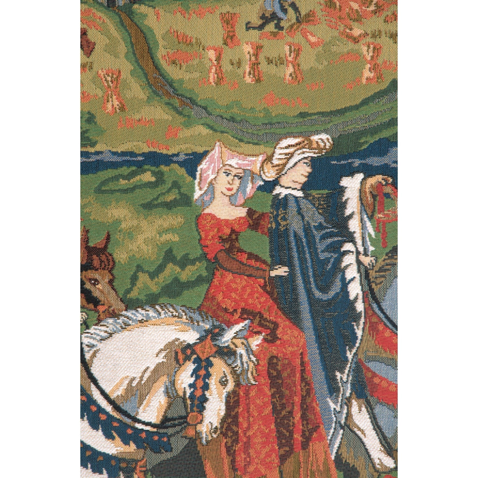 Blue Hunting Tapestry Decoration 4 Room