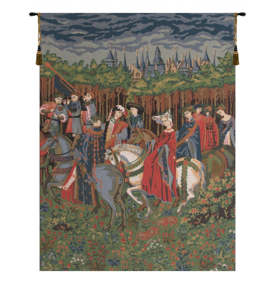 The Falcon Chase Duke of Berry European Wall Hanging Tapestry