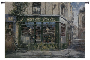 french shops with bicycle wall hangings