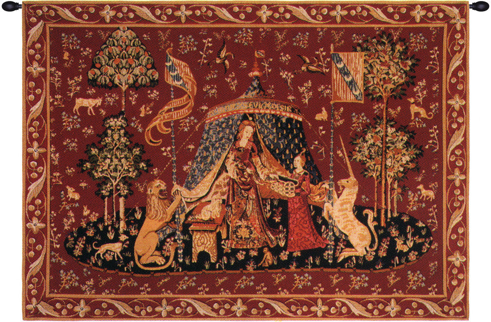 Red A Mon Seul Desir II French Decor Wall Tapestry