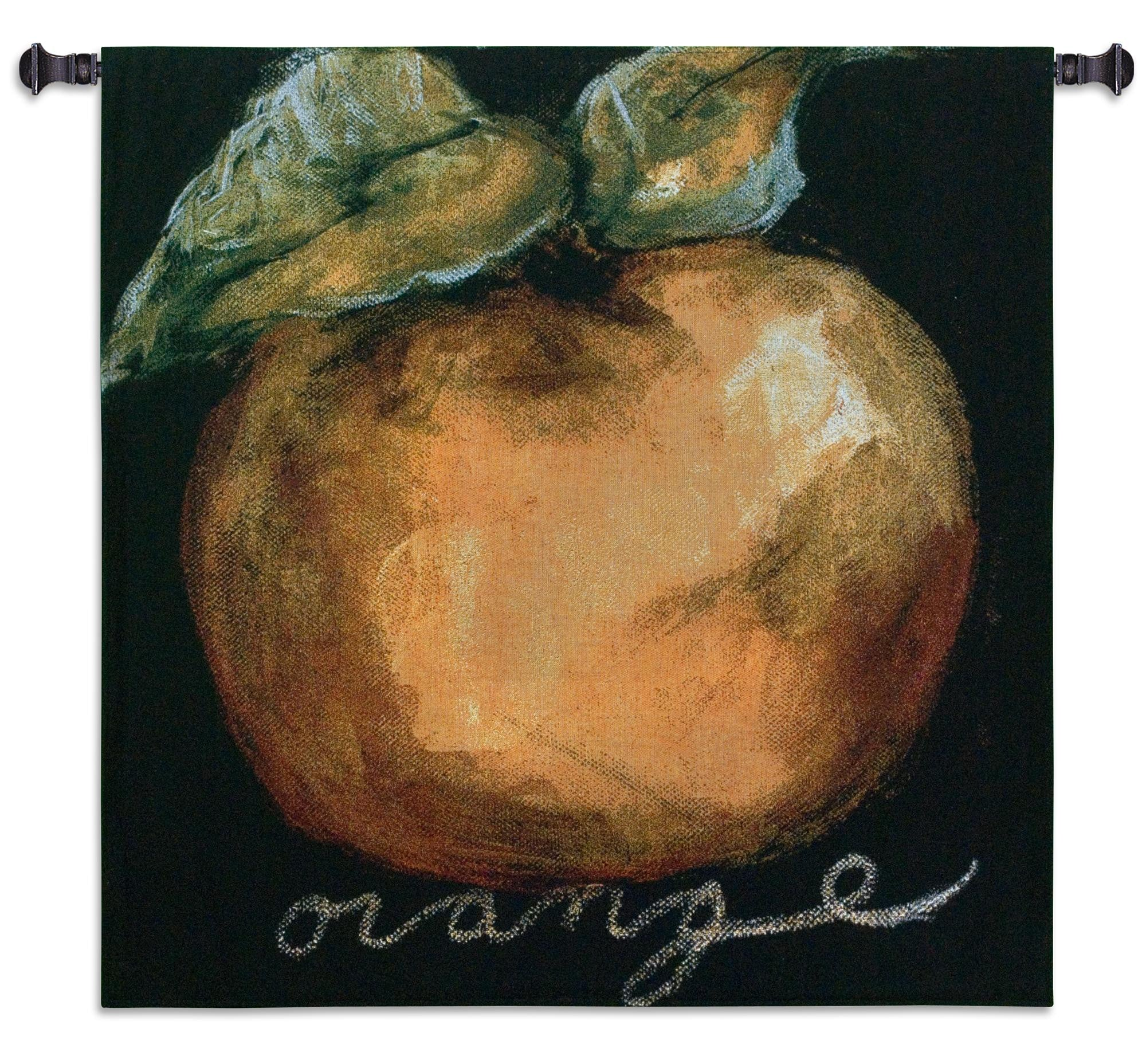 Orange Wall Hanging Textile Tapestry
