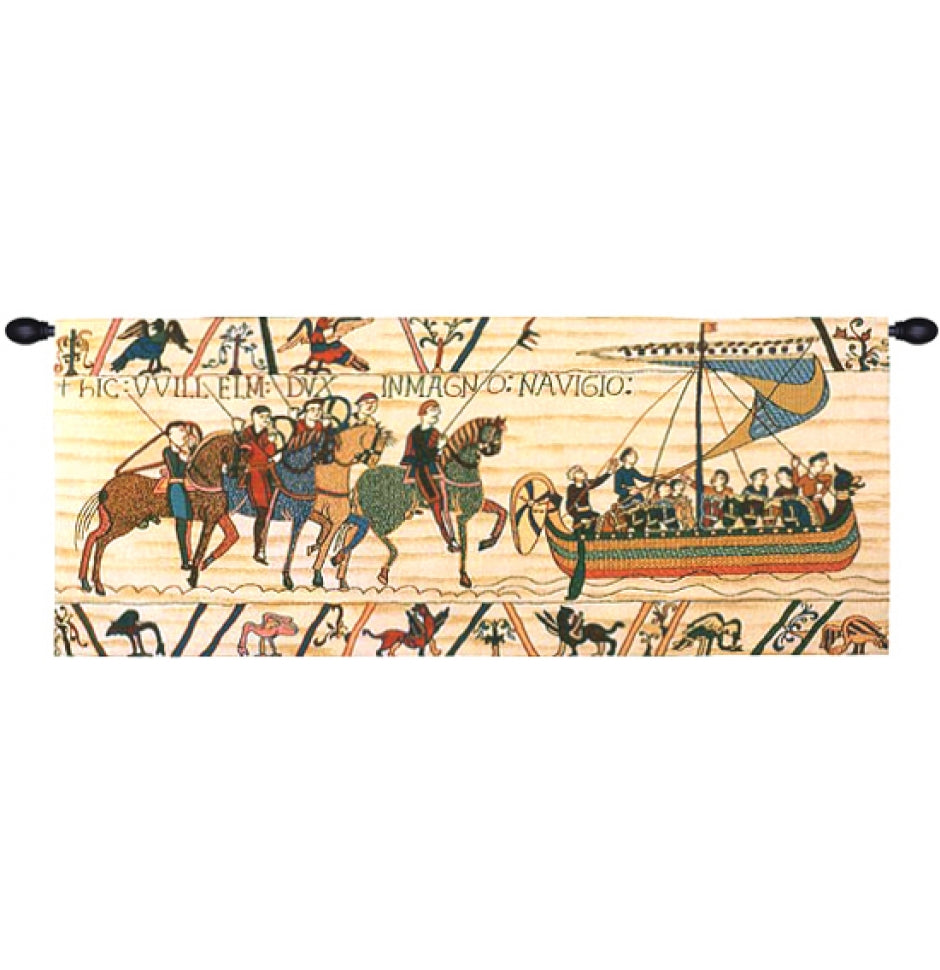 Large Cream William Embarks Woven Wall Hanging