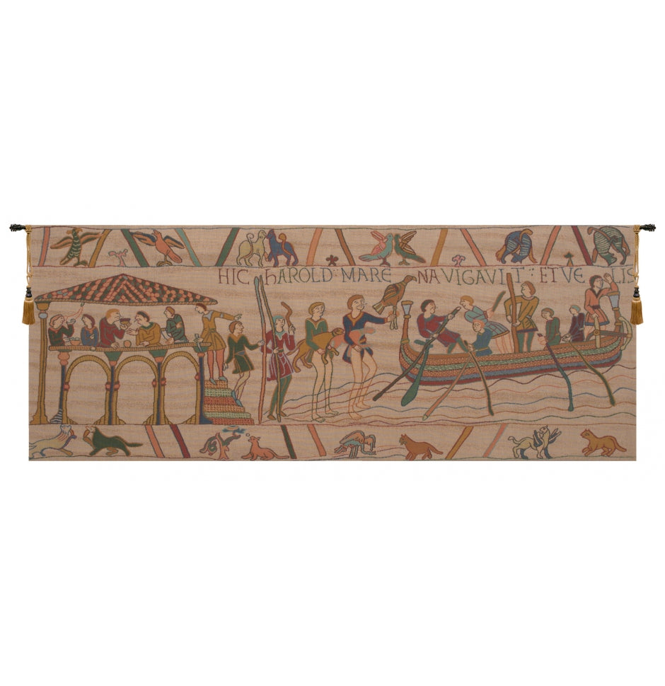 Wide King Harold Hanging Wall Tapestry