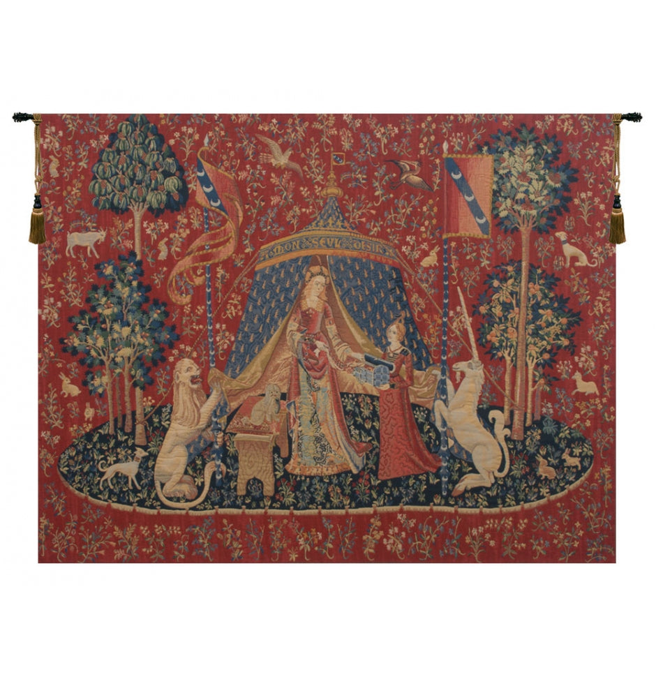 Le Desir Fonce European Hanging Wall Tapestry