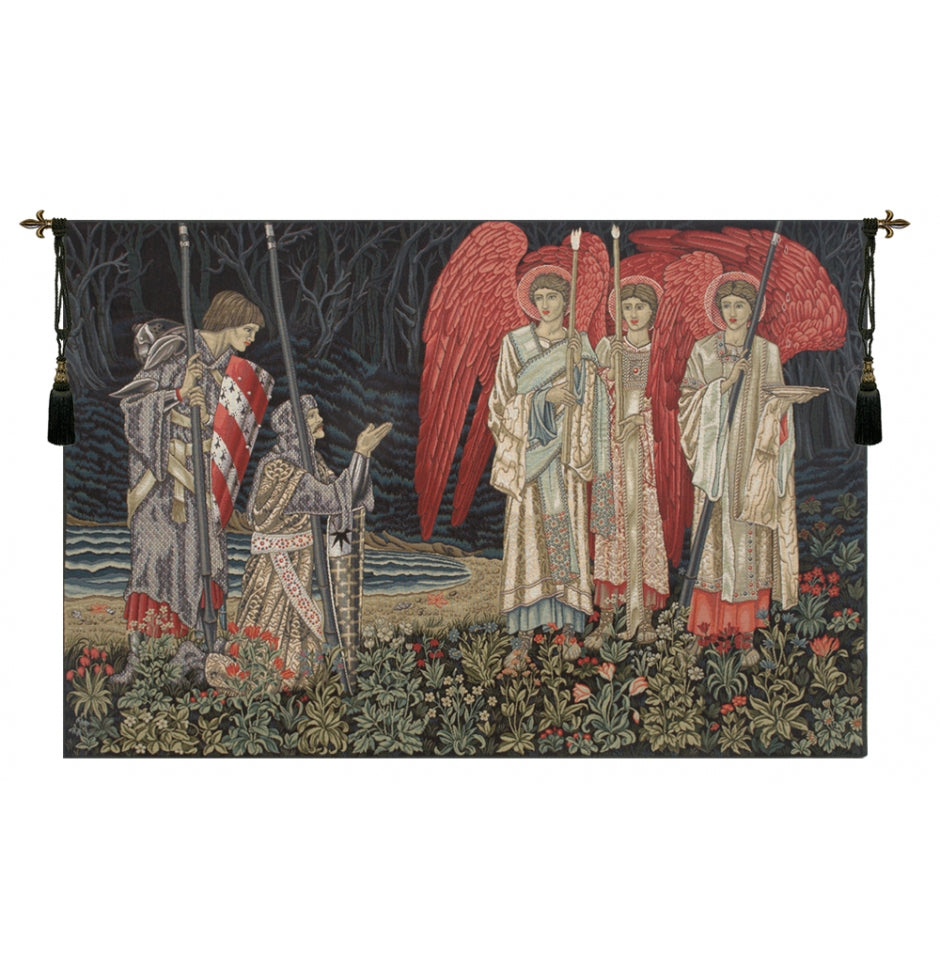 The Holy Grail II The Vision Left Panel European Wall Hanging Tapestry