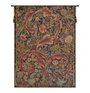 Acanthe Brown French Decor Wall Tapestry