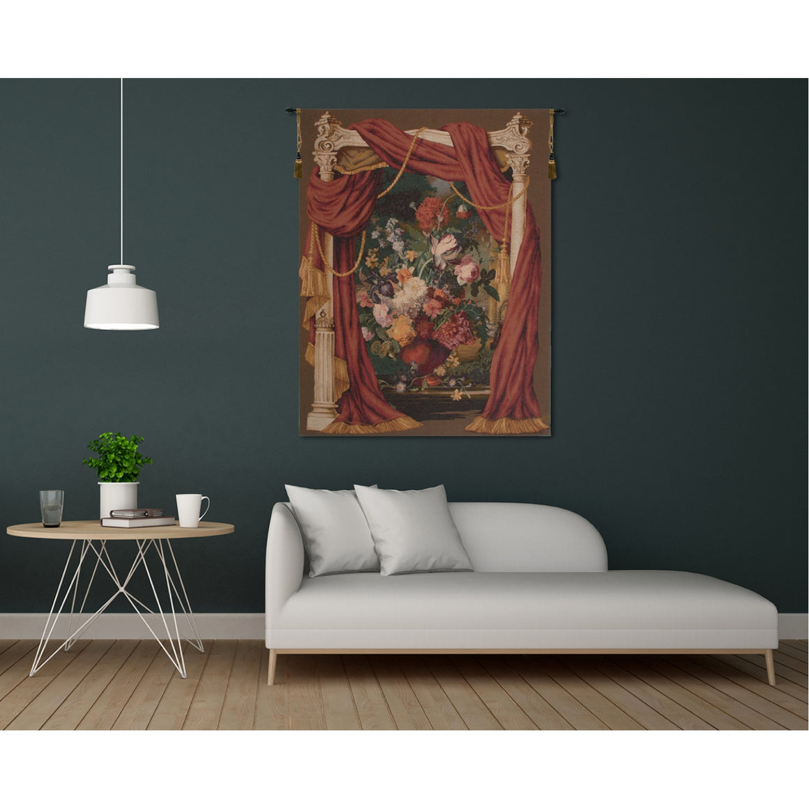 Bouquet Theatral French Wall Tapestry