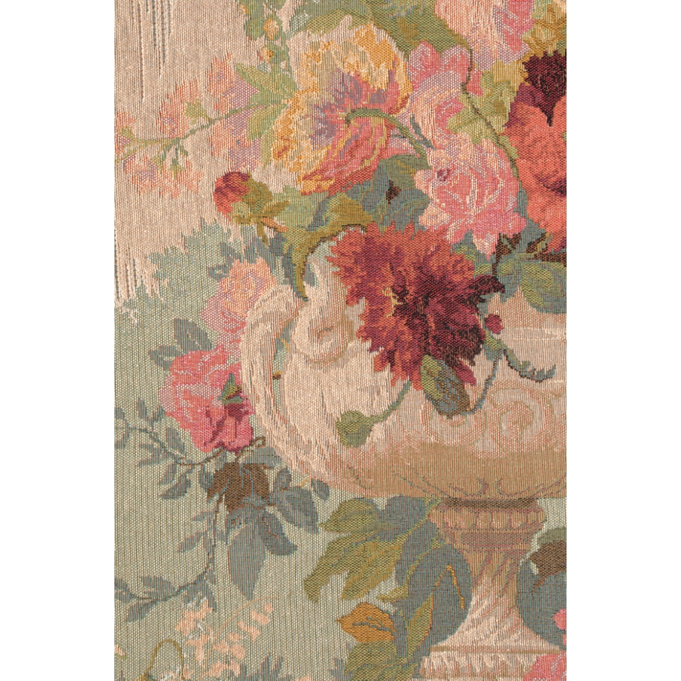 Classic Flowers in a Hanging Woven Textile