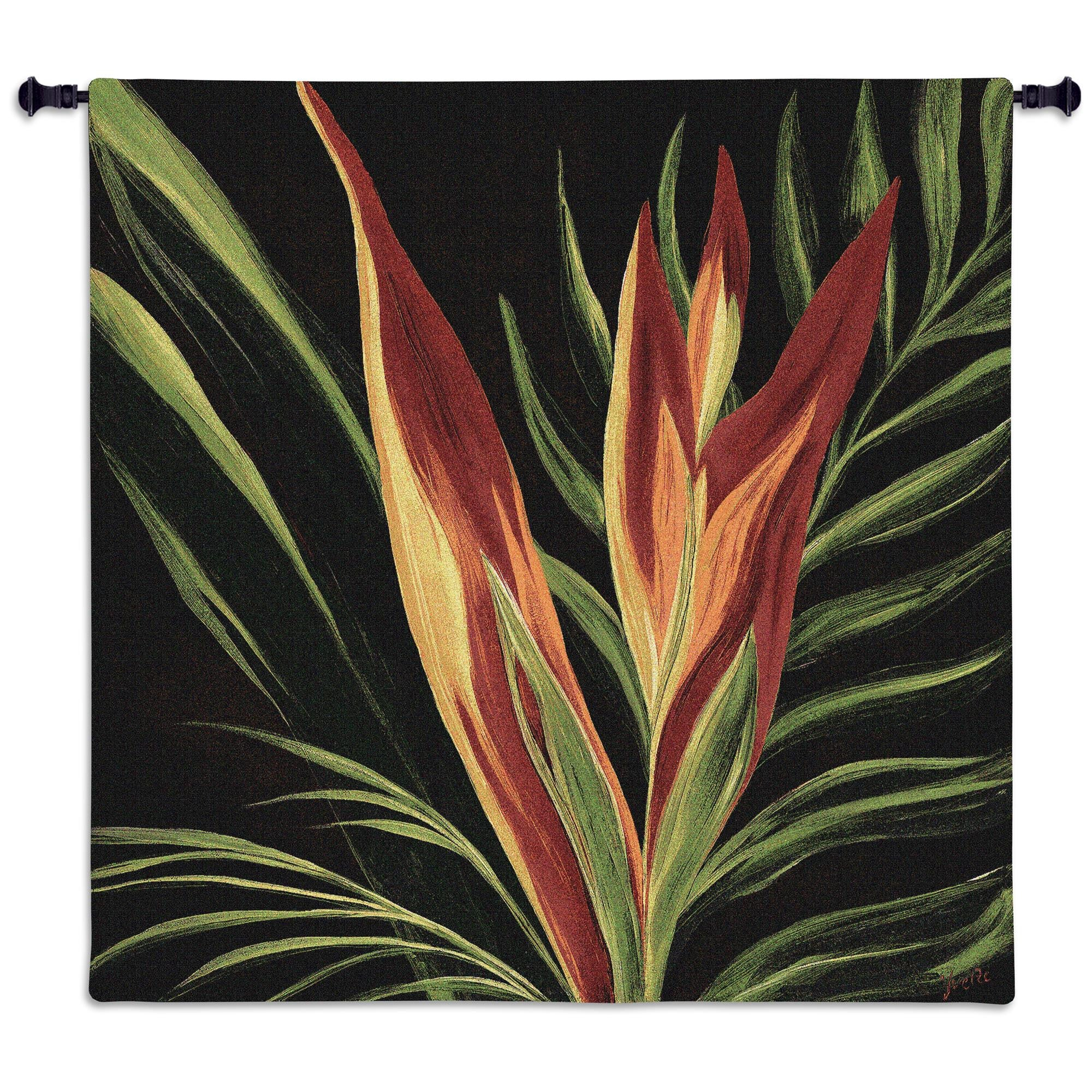 Birds of Paradise Woven Tapestry