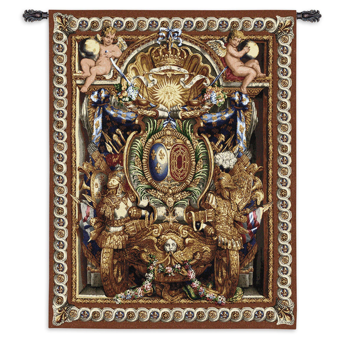 Portiere du Char de Triomphe Large Wool and Cotton Wall Tapestry