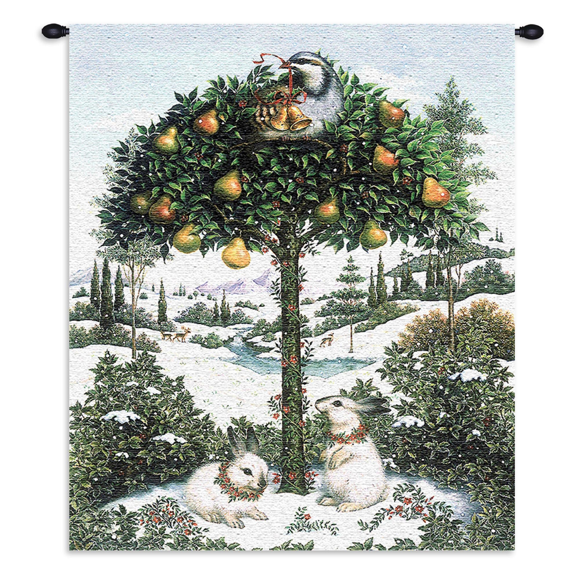 Holiday Tree Home Woven Wall Hanging