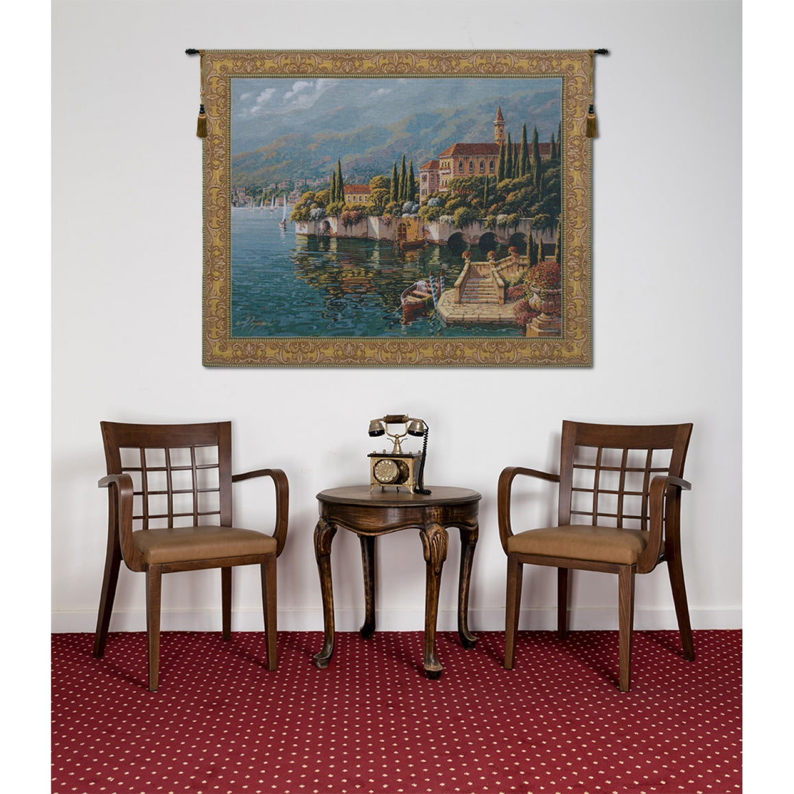 Verena Reflections European Hanging Wall Tapestry