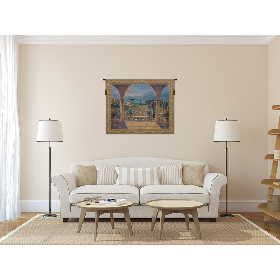 Lakeside Vineyard European Hanging Wall Tapestry
