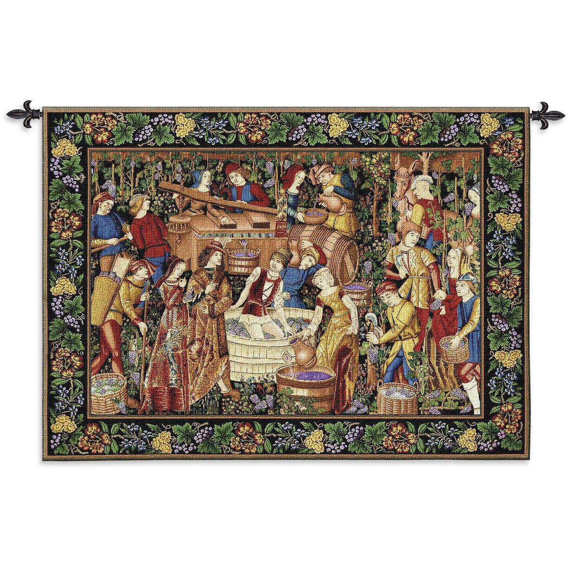 Les Vendanges Woven Textile Wall Hanging