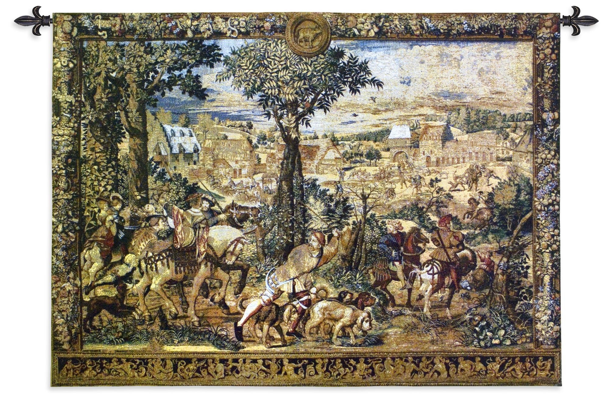 Hunts of Maximilian Woven Textile Tapestry Art