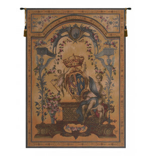Gold Dame Au Blason French Decor Wall Tapestry