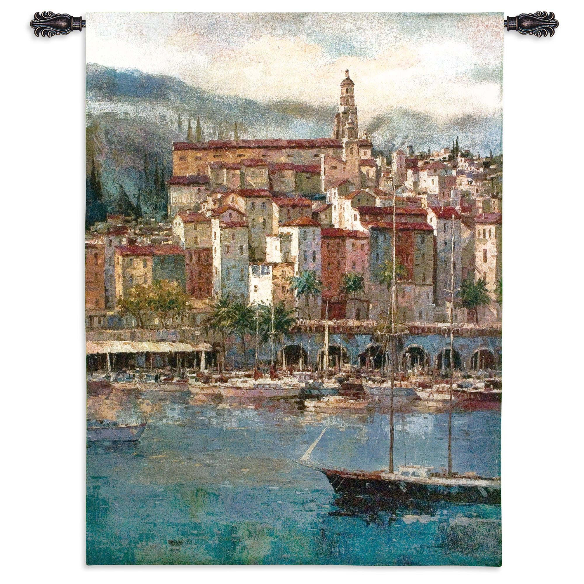 Mediterranean Harbor Woven Textile Decor
