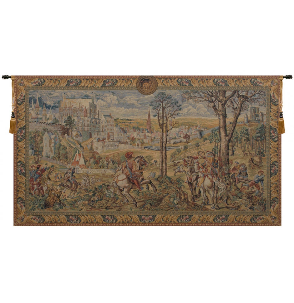 Old Brussels Flanders European Hanging Wall Tapestry